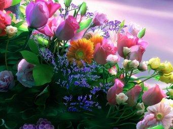 Букет цветов. Фон для оформления личной страницы