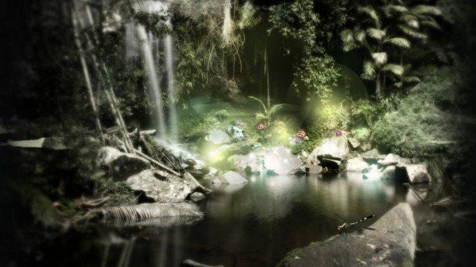 Озеро, лес. Фон для оформления личной страницы