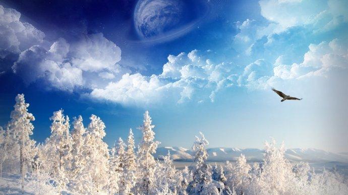 Зимний пейзаж. Фон для оформления личной страницы