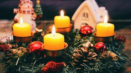 Свечи - Рождество. Фон для оформления личной страницы