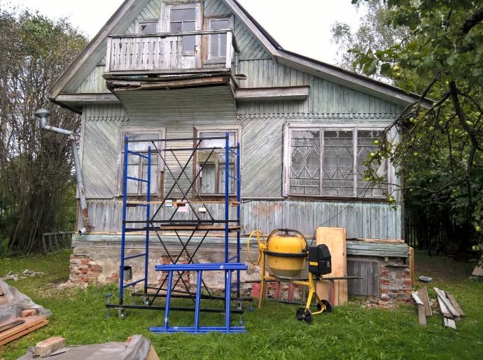 Дом перед ремонтом - так было
