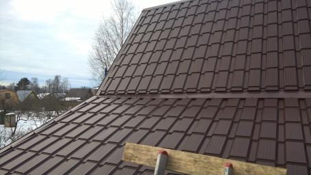 Новая крыша металлочерепица КАСКАД