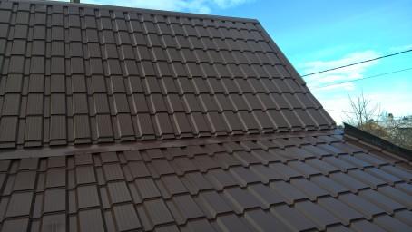 После ремонта крыши металлочерепица КАСКАД
