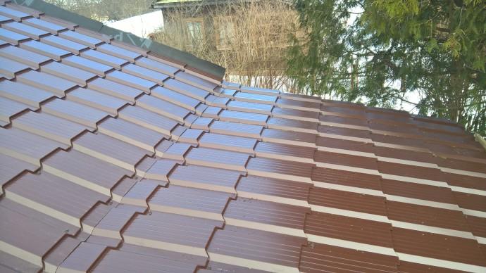 Крыша металлочерепица КАСКАД