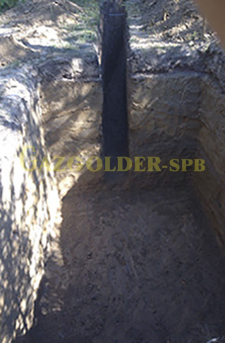 Траншея для подземного газопровода