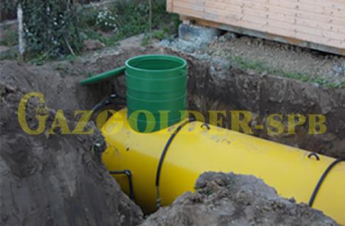 Установка и обвязка газгольдера